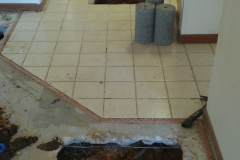 Breaking home tile to fix a leak